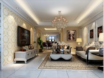 浦江坤庭公寓装修现代简欧设计