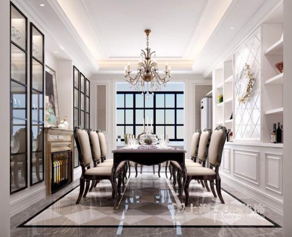 郑州锦园4室2厅160平新古典风格装修效果图——餐厅