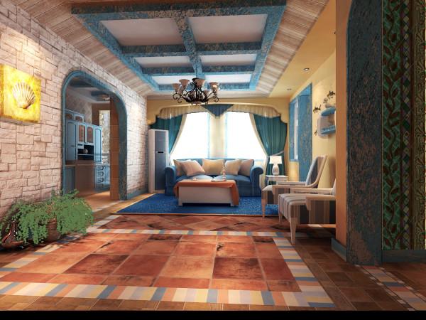 不同铺贴方式的仿古砖,马赛克的镶嵌,彩色线条的装饰让空间变得华丽多彩。素雅的条纹壁纸,仿真的藤编壁纸,让墙面造型柔和温馨。