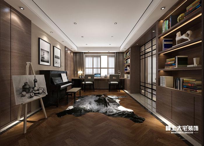 书房图片来自峰上大宅装饰长沙在敔山岭秀平墅-现代风格的分享