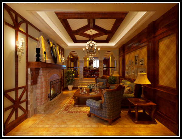 保利十二橡树330平别墅欧式风格