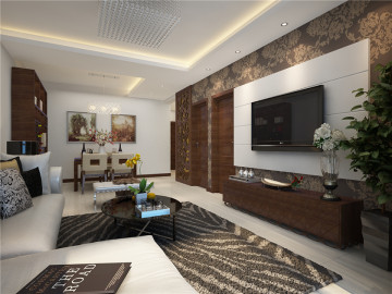 飞天世纪家园99㎡新中式两居