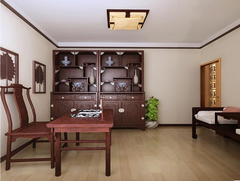 新中式风格 两居 装修 九龙城 书房图片来自夏曼在新中式风格装修 九龙城 两居的分享