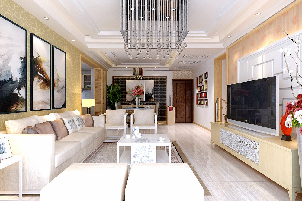 新中式风格 两居 装修 九龙城 客厅图片来自夏曼在新中式风格装修 九龙城 两居的分享