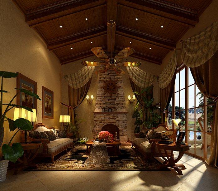 客厅图片来自宏誉装饰-Paul在170平简欧风格的分享