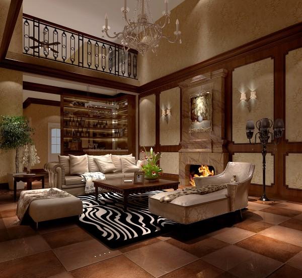 生活家装饰--龙湖·好望山五居300平米新古典风格客厅装修效果图