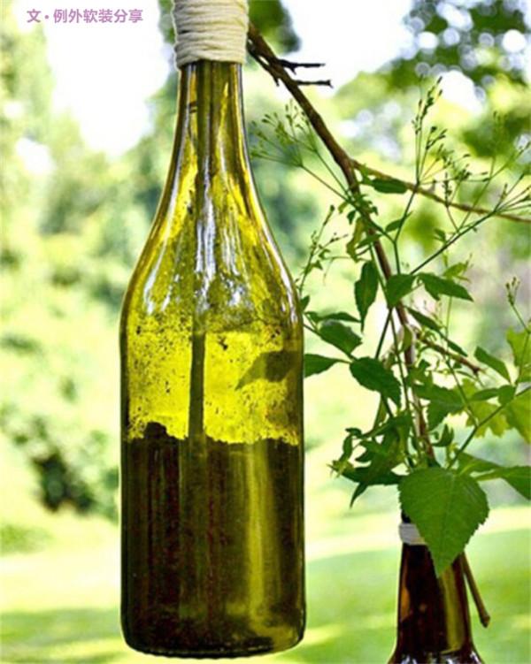 酒瓶当花瓶用,你敢想?把好看的酒瓶留下来当花瓶用,收藏装饰一举两得,水培、泥土种植的都适合,不过因为无法排水,所以泥土种植的植物在浇水时要注意控制水量,以免烂根。PS:错落地吊挂起来会很好看哦!