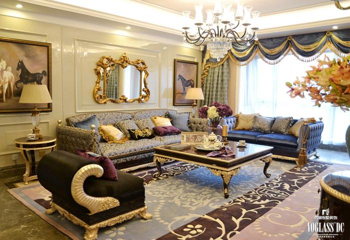 客厅图片来自成都尚层别墅装饰装修公司在欧式宫廷作品的分享