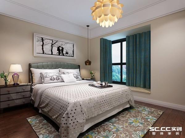 女儿房,根据其喜好,家具,地板采用深色橡木、软装浅蓝为主色调,墙面用简单的线条加以装饰,既不显单调又不失美观。