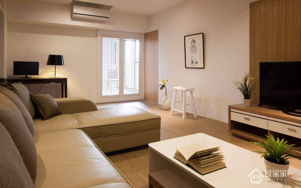 简约 三居 80后 白领 小资 客厅图片来自过家家装饰在富盈中央山现代简约三居室的分享