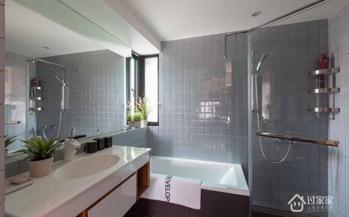 简约 三居 80后 白领 小资 卫生间图片来自过家家装饰在富盈中央山现代简约三居室的分享