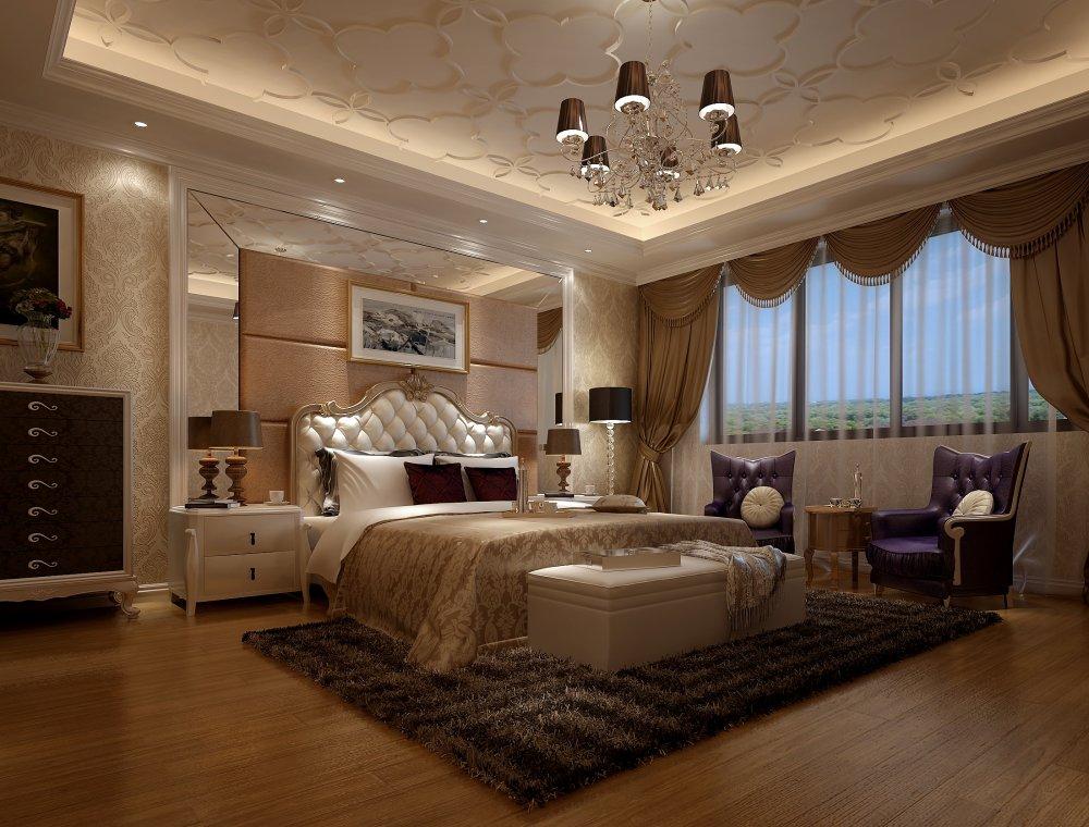 卧室图片来自宏誉装饰-Paul在欧式别墅装修案例的分享
