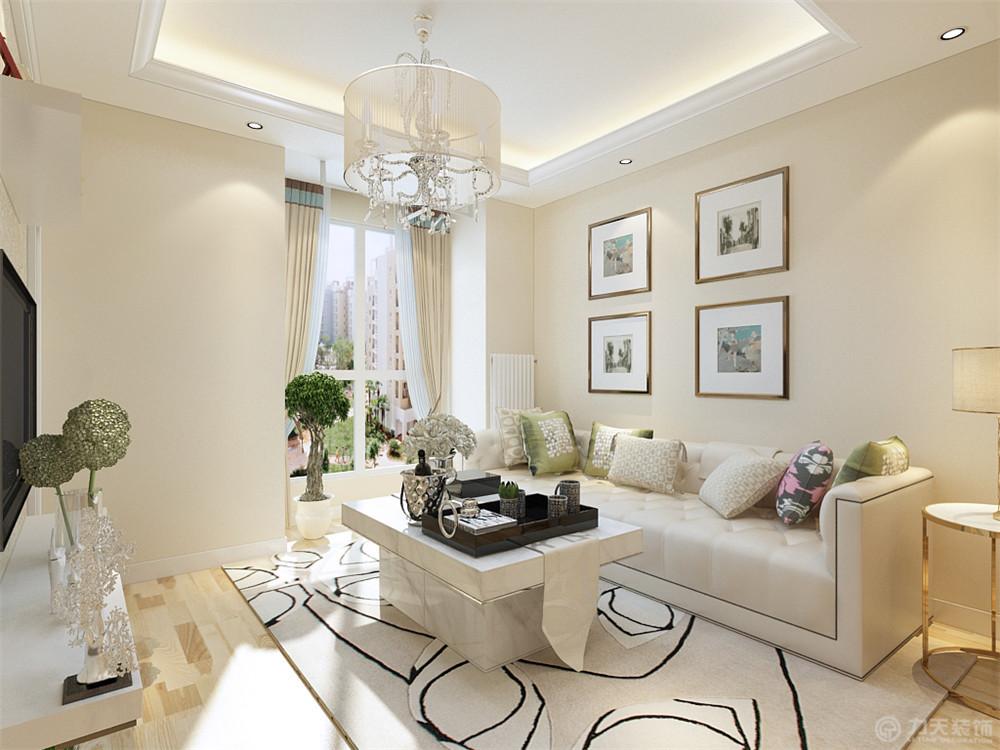 两室 简欧 简约 客厅图片来自阳光放扉er在力天装饰-和静家园75.6㎡的分享