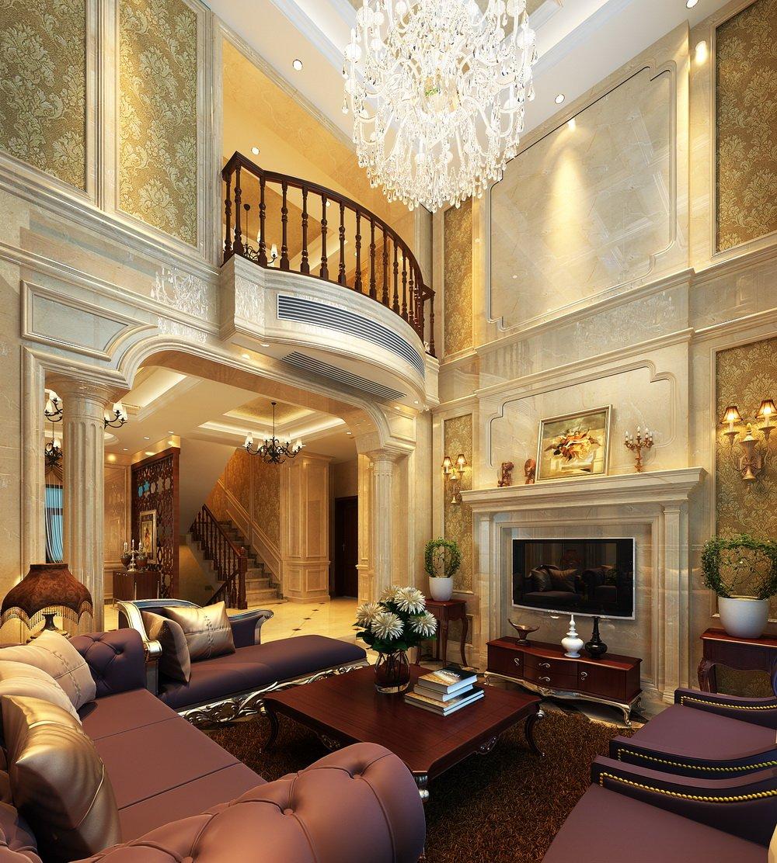 客厅图片来自宏誉装饰-Paul在欧香小镇——欧式装修案例的分享