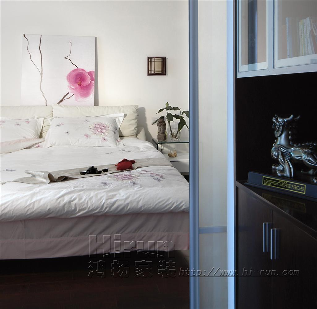 卧室图片来自鸿扬家装武汉分公司在文士雅风之品味生活的分享