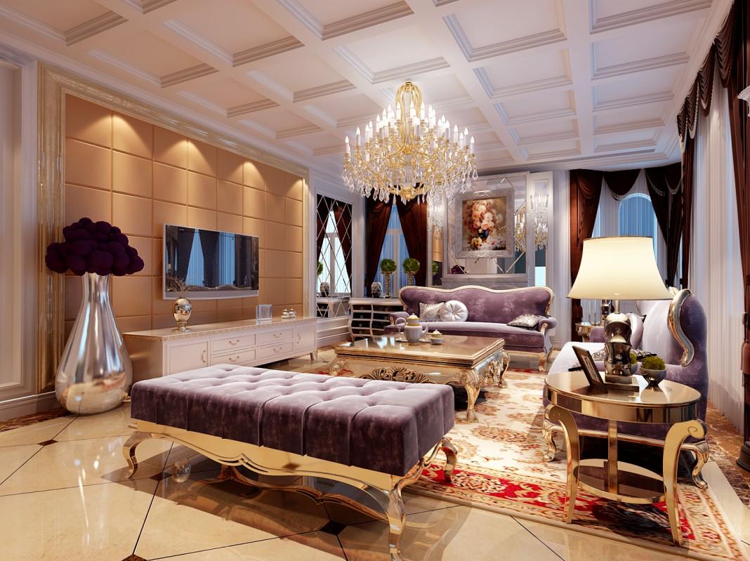 图片来自四川金标装饰别墅装修设计在欧式客厅装修案例的分享