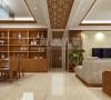新中式装修观洲国际三居室案例