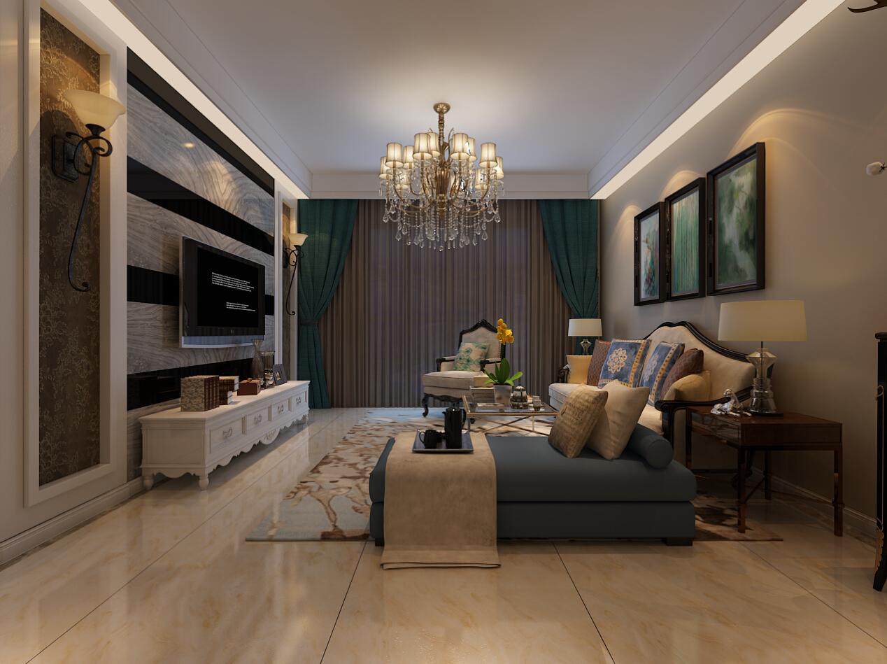 白领 客厅 三居 暖色 时尚 温馨 客厅图片来自合肥生活家在佳源巴黎都市三居美式风格的分享