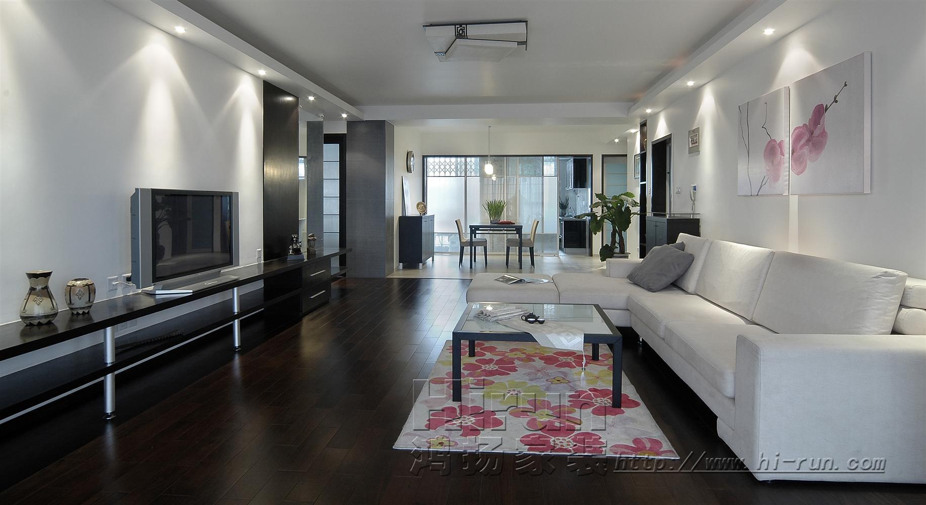 客厅图片来自鸿扬家装武汉分公司在文士雅风之品味生活的分享