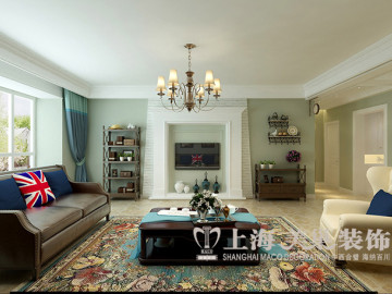 五室两厅170平美式乡村装修设计