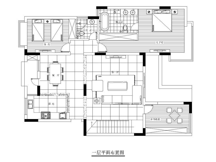 现代简约风 别墅装修 户型图图片来自实创装饰上海公司在现代简约风格装修设计的分享