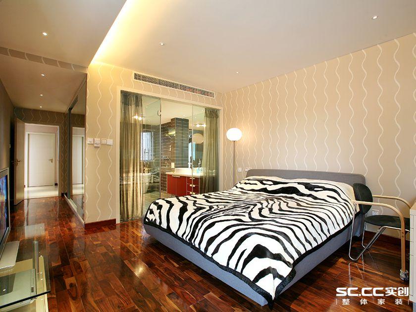 现代简约风 别墅装修 卧室图片来自实创装饰上海公司在现代简约风格装修设计的分享