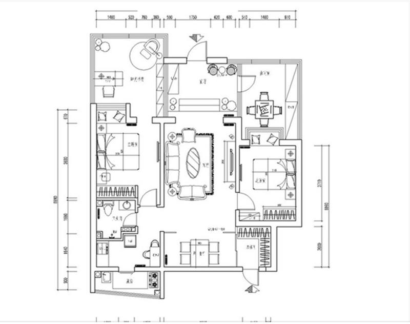 旧房改造 老房翻新 二手房改造 实创688 实创理想装 实创样板间 实创地址 K2玉兰湾 户型图图片来自实创装饰都琳在K2玉蘭湾地中海风格设计方案的分享
