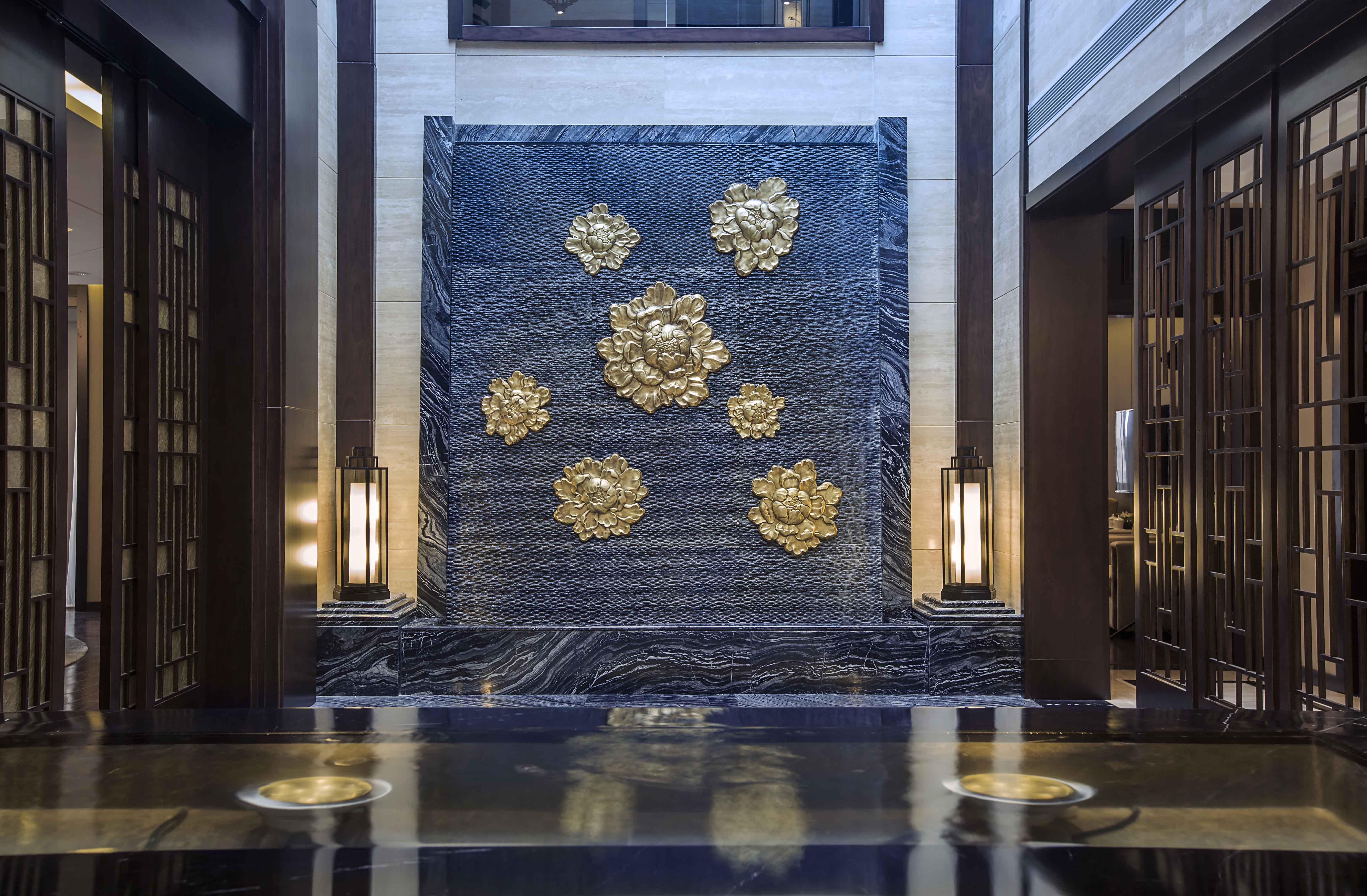 新中式 原创国际 全案设计 玄关图片来自原创国际别墅装饰在铂悦会所的分享