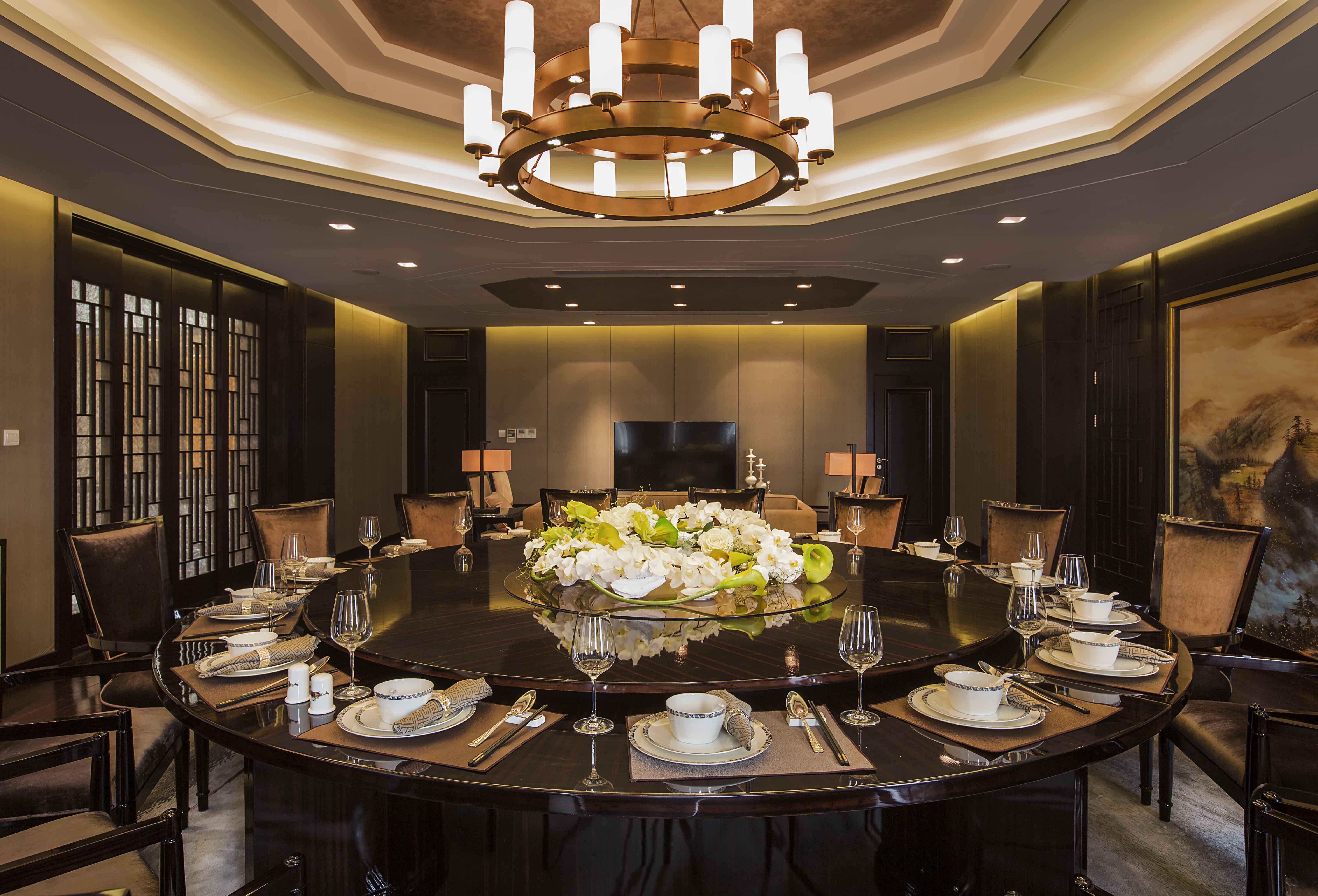 新中式 原创国际 全案设计 餐厅图片来自原创国际别墅装饰在铂悦会所的分享