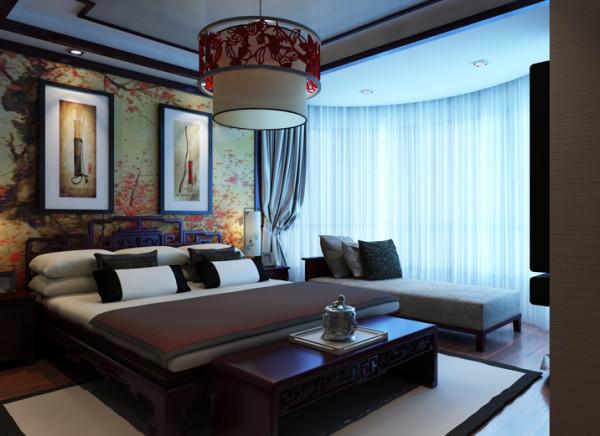 生活家装饰--珠江骏景100平米三居中式古典风格卧室装修效果图