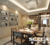 采用了木纹与客厅呼应还有吧台区域也是一个亮点。整个区域温馨不失奢华。
