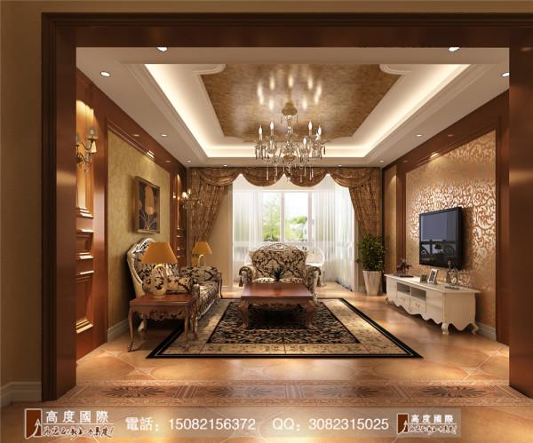 信和御龙山客厅细节效果图----高度国际装饰设计