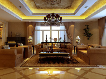 美式大气装修风格,奢华品质案例
