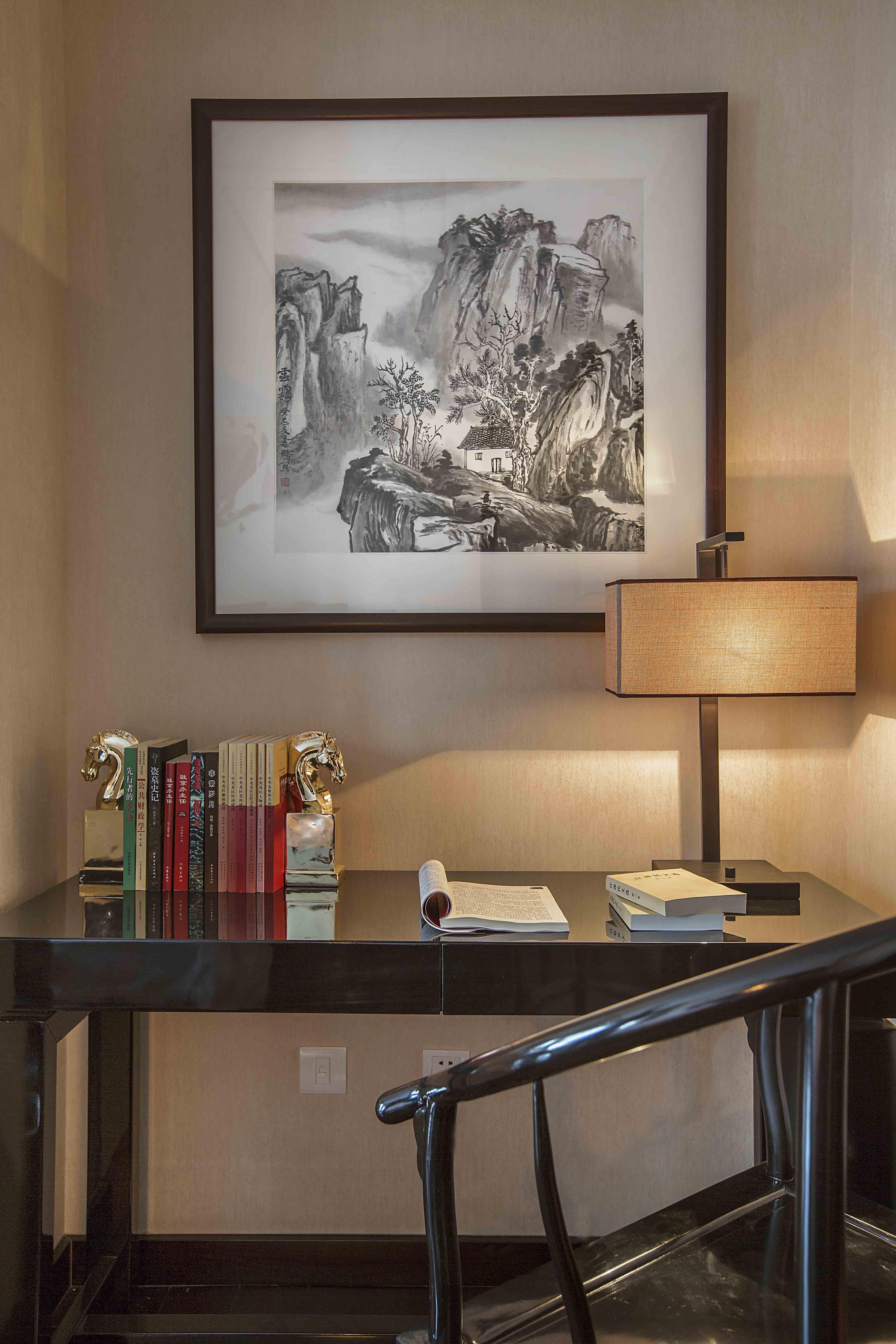 新中式 原创国际 全案设计 书房图片来自原创国际别墅装饰在铂悦会所的分享