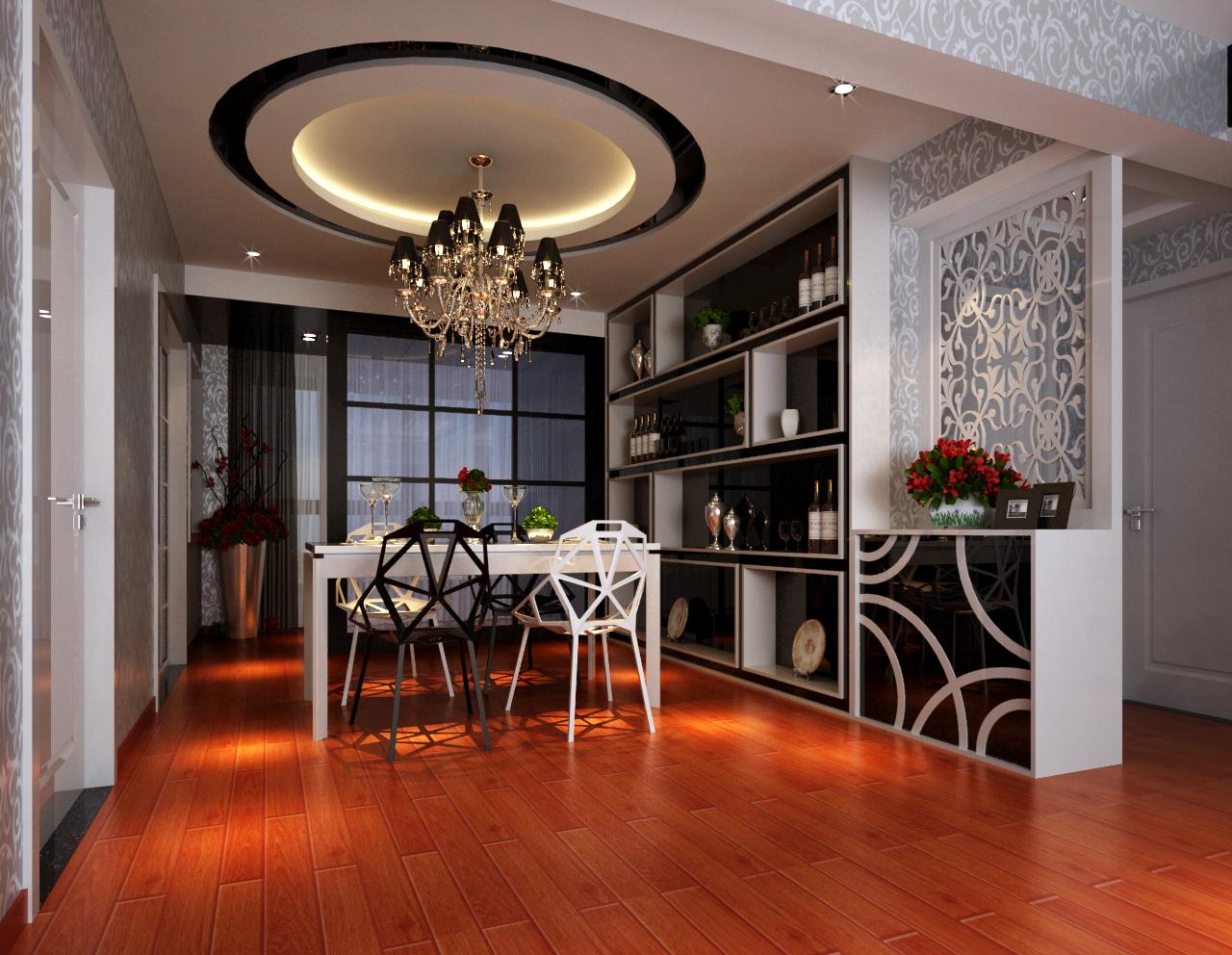 中央特区 两居 后现代风格 装修 餐厅图片来自张樂在中央特区 两居 后现代风格装修的分享