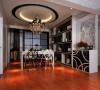 中央特区 94平两居室 后现代风格 家装设计案例 效果图-餐厅