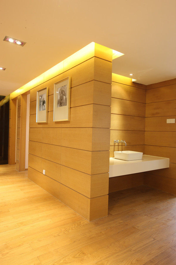 水利局家属院 140平三居室 现代风格装修设计案例 效果图-卫生间