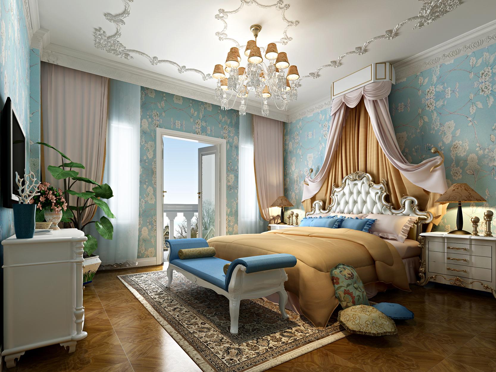 法式风格 原创国际 品质墅装 全案设计 卧室图片来自原创国际别墅装饰在海兰云天的分享