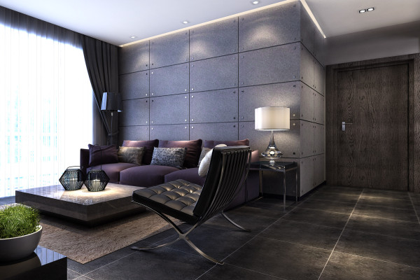 升龙又一城 两居室88平米 家装设计案例 工业风格装修-客厅沙发背景墙