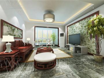 中凯铂宫 200平大宅简约中式风格