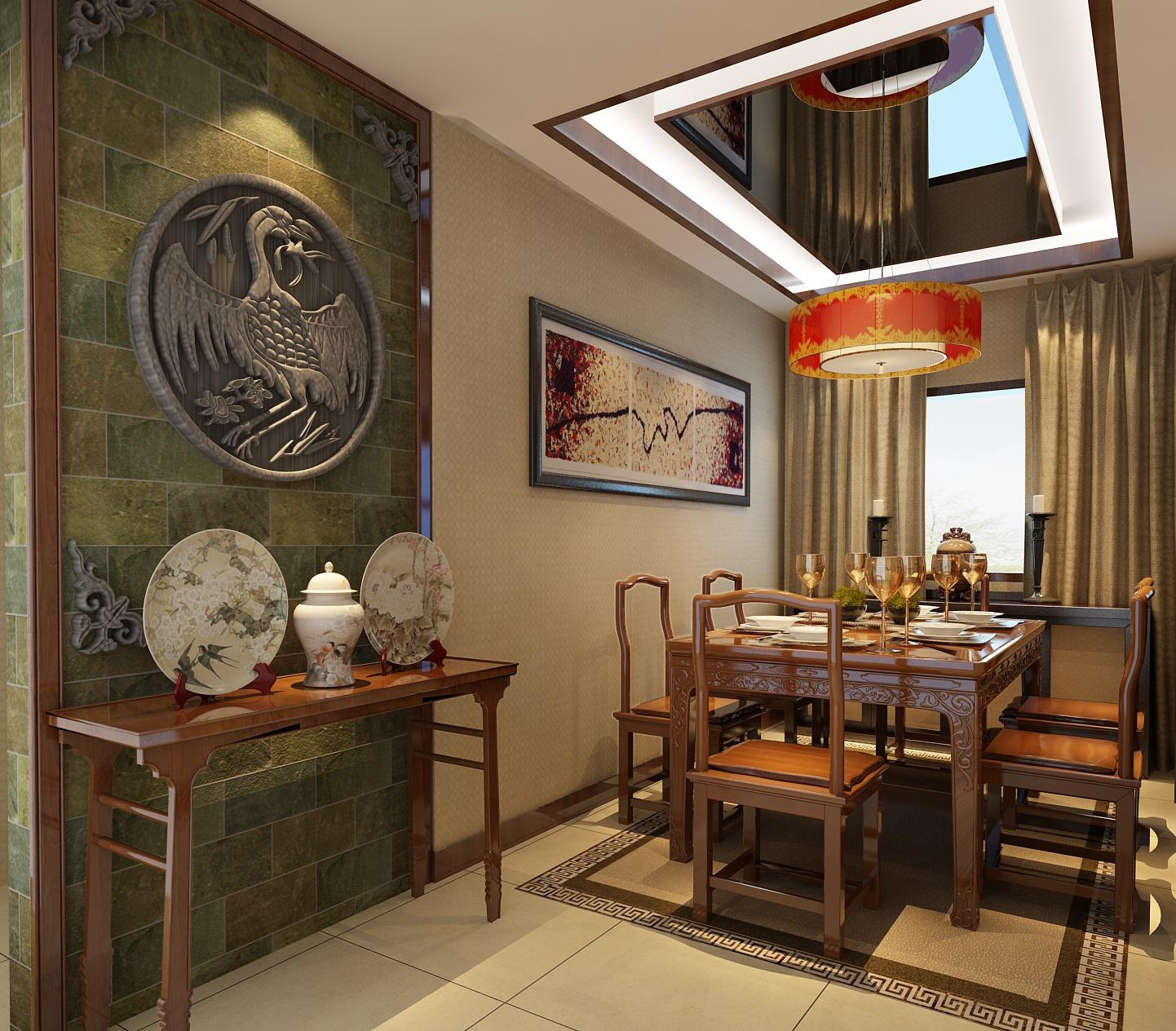 四居 中式 古典 舒适 简洁 华贵 典雅 餐厅图片来自xushuguang1983在山语城190平米中国风装修的分享