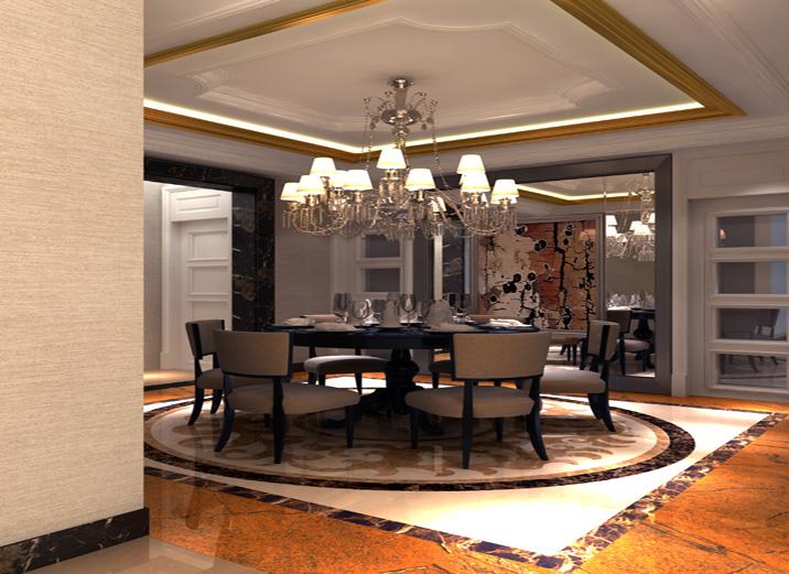 四居 欧式 奢侈豪华 实创家装 餐厅图片来自实创装饰集团广州公司在奢华欧式四居的分享