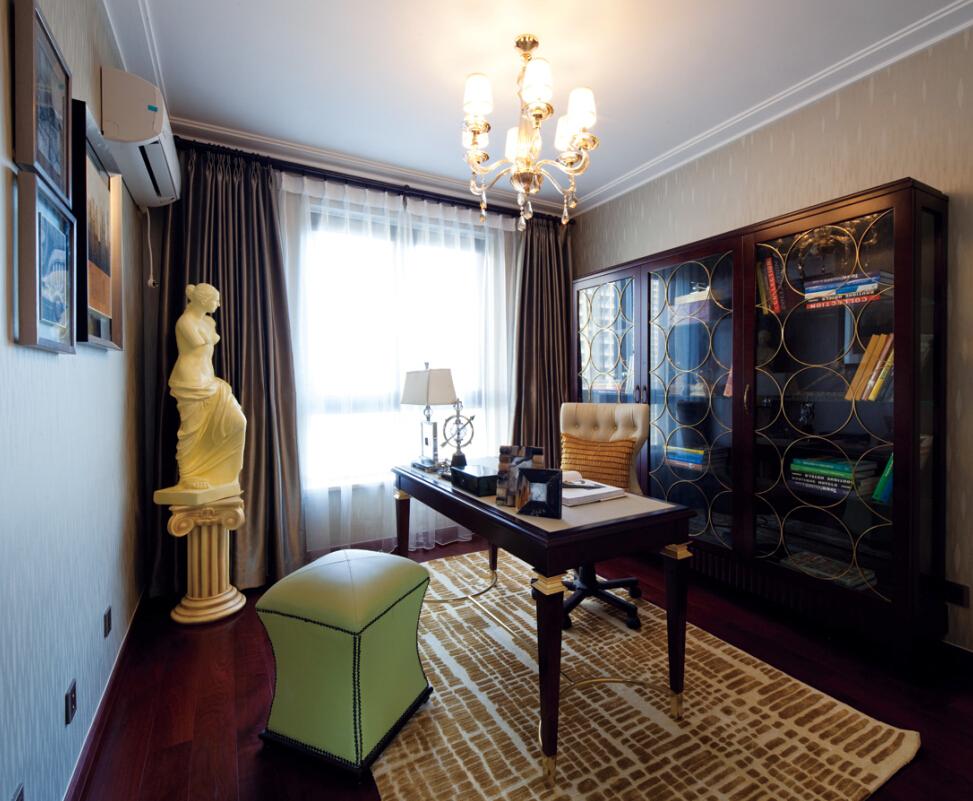 简约 田园 混搭 二居 白领 旧房改造 三居 欧式 书房图片来自紫禁尚品国际装饰高晓媛在欧式风格案例赏析的分享