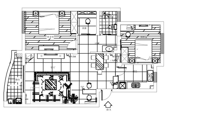 实创装饰 实创理想装 实创装修 旧房改造 老房翻新 二手房改造 上地东里图 三居设计图 简约设计图 户型图图片来自实创装饰都琳在上地东里现代简约设计方案的分享