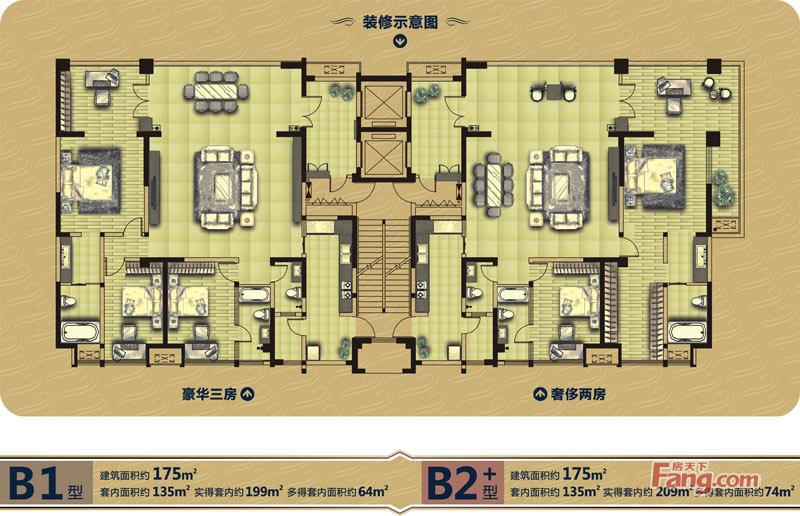 户型图图片来自上海本意空间建筑装饰有限公司在棕榈长滩的分享