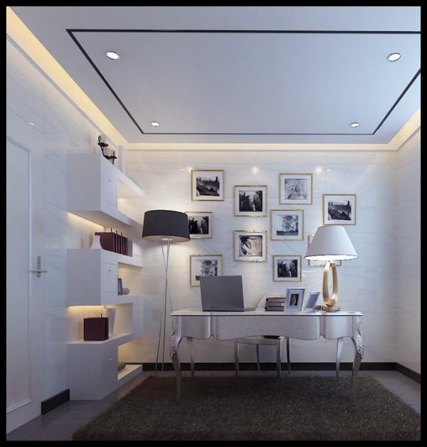 生活家装饰--香墅湾150平米三居现代奢华风格客厅装修效果图  亮点:书架 不规则的造型书架让空间年轻、时尚,不再是常规概念的沉闷。