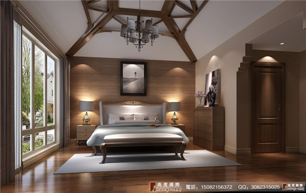 恒大金碧天下卧室细节效果图-----高度国际装饰设计