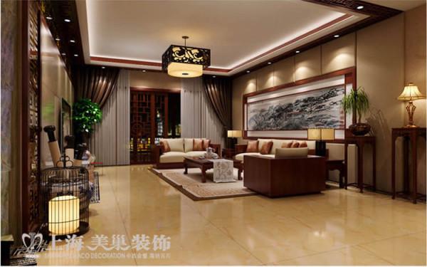 升龙国际新中式装修三室两厅案例——客厅 案例来源:http://www.chinamaco.cn/demo-info-127.html?u=19