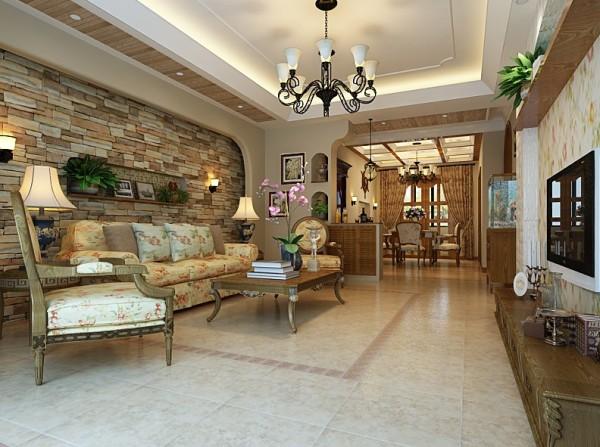 美式风格别墅装修客厅