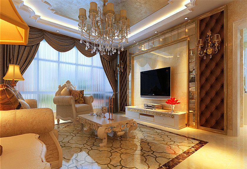 简约 欧式 三居 白领 收纳 80后 小资 客厅图片来自实创装饰百灵在欧式奢华 153㎡的分享